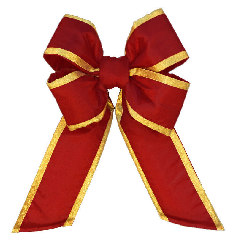 Old Glory Red Nylon Bow with Gold Trim