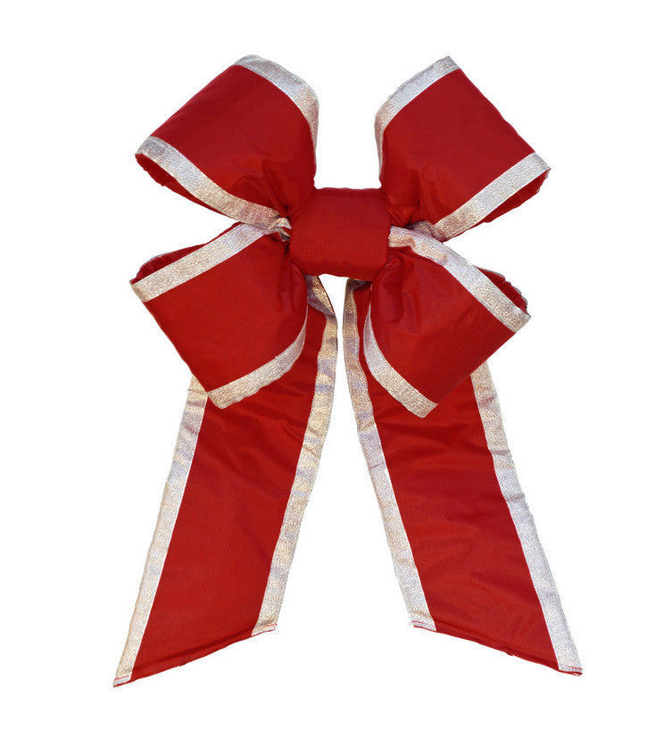 Old Glor Red Nylon Bow with Silver Trim