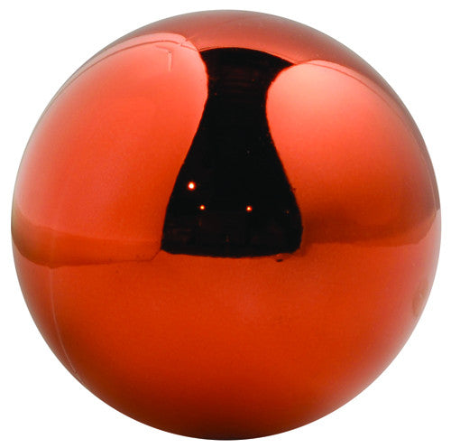 Orange Shiny UV Treated Ball Ornament