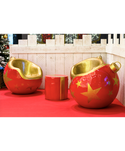 Decorative Christmas Ornament Chair
