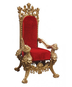 Ornate Santa Chair & Ottoman