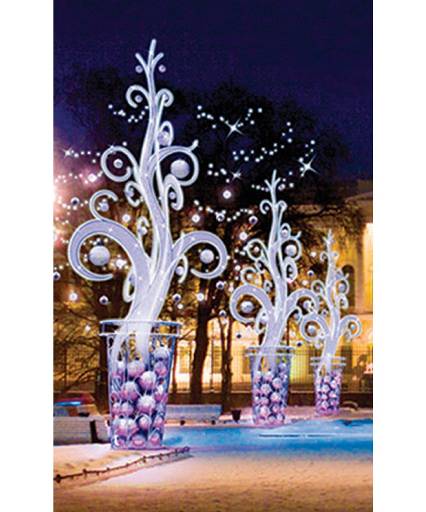 Artistic Outdoor Christmas Tree Accent Decor