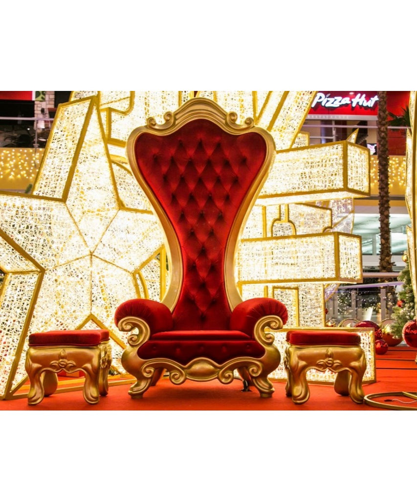 Royal Lux Red & Gold Santa Chair