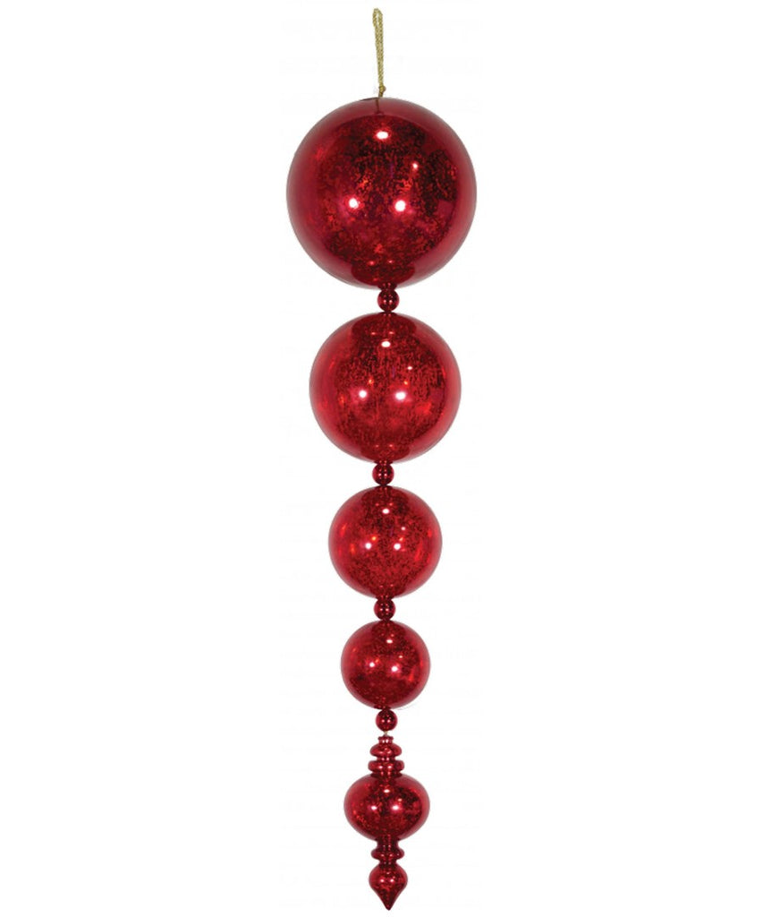 "46"" Commercial Mercury Ball Drop Finial"