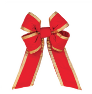 Red Velvet Bow with Gold Trim