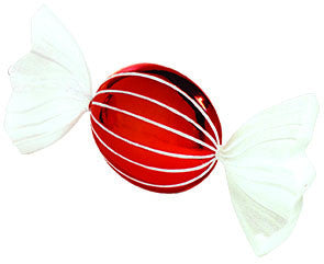 Jumbo Red & White Candy Ornament