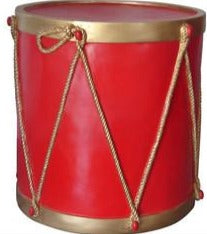 "25.5"" Red & Metallic Gold Drum Base"