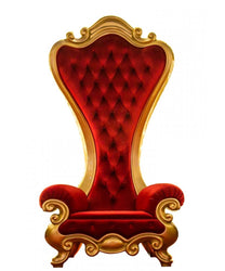 Elegant Red and Gold Santa Throne