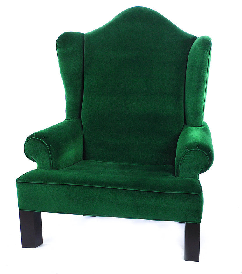 green wing back santa chair commercial christmas supply. Black Bedroom Furniture Sets. Home Design Ideas