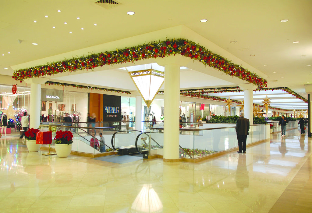 Classic Style Decorated Garlands in Mall