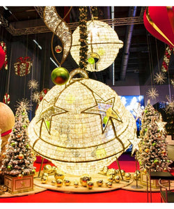 7.2' Giant LED Bell Ornament