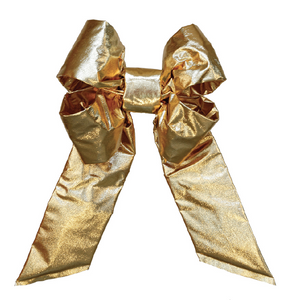 Gold Mylar Bow - No Trim