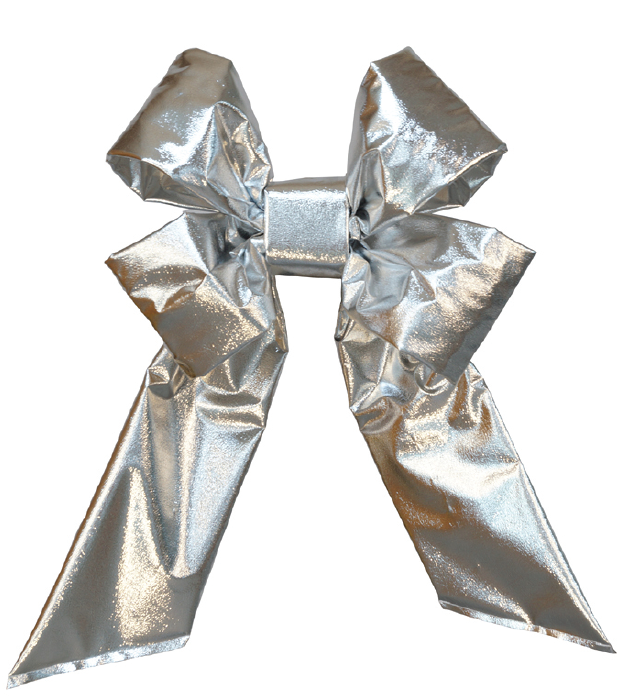 Silver Mylar Bow - No Trim
