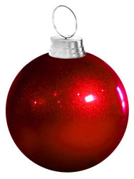 Giant Red Ornament Shown with Optional Ring
