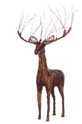 "50"" x 90"" Standing Buck Deer Decor"