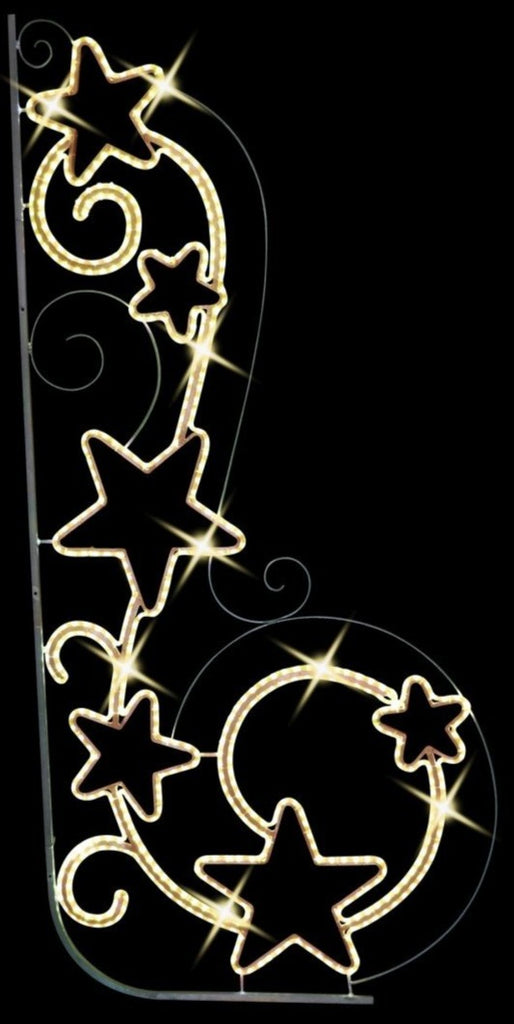 Star Scroll LED Pole Mount Decoration