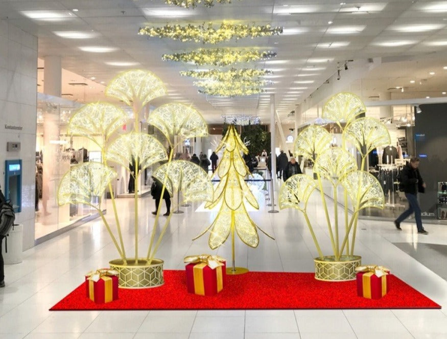 Modern LED Petal Christmas Accent Decor for Retail