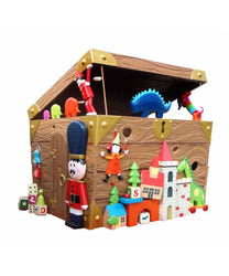 Walk Through Holiday Gift Box Santa House