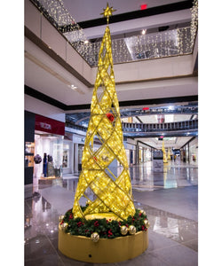 Unique LED Lit Commercial Christmas Tree Indoor or Outdoor Malls
