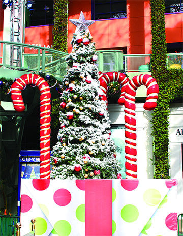 8' Giant Fiberglass Candy Canes on Display