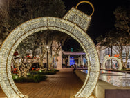 Walk Through Ornament Outdoor Commercial Christmas Display