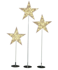 LED Illuminated Star Trees - Set of 3