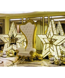 Royal White and Gold Santa Set Display