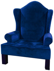 Blue Velvet Santa Chair