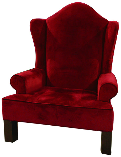 Red Wing Back Santa Chair Commercial Christmas Supply