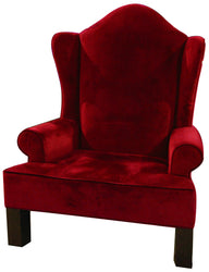 Red Velvet Santa Chair