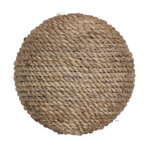 Round Burlap Christmas Ornament