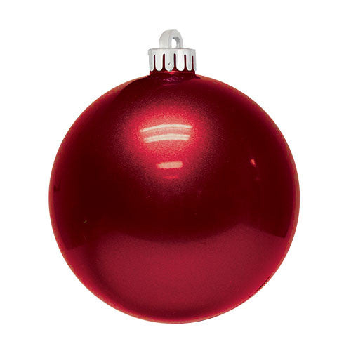 Red Christmas Ornaments.Candy Apple Ball Ornaments Case Of 12