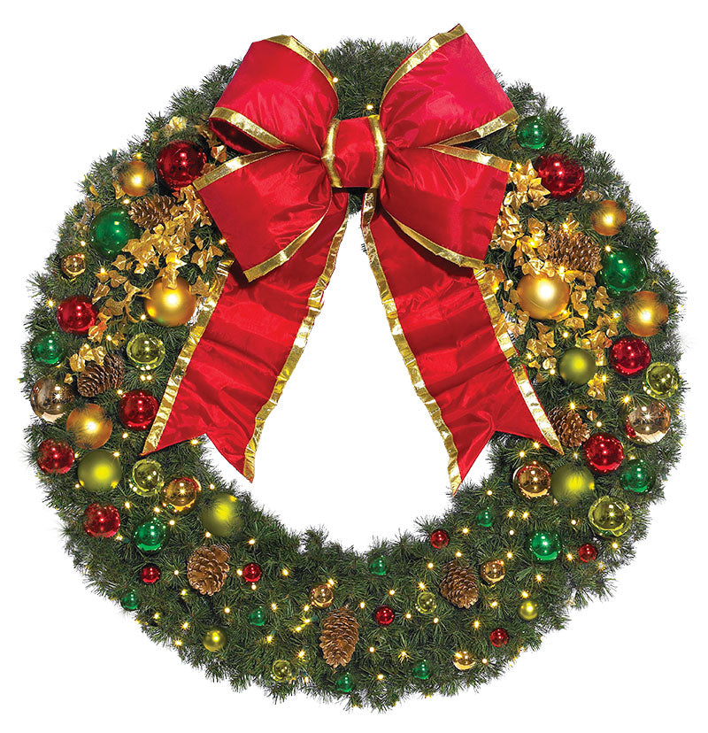 Commercial Classic Decorated Wreath Decoration