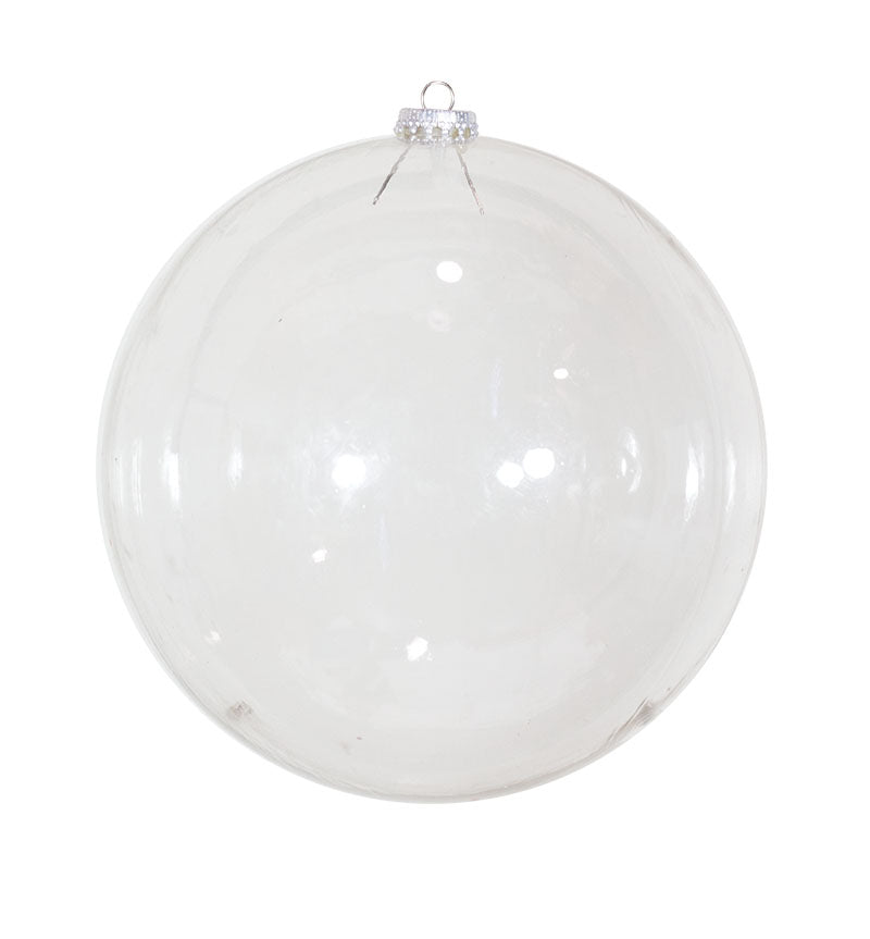 Clear Bubble Round Christmas Ornament
