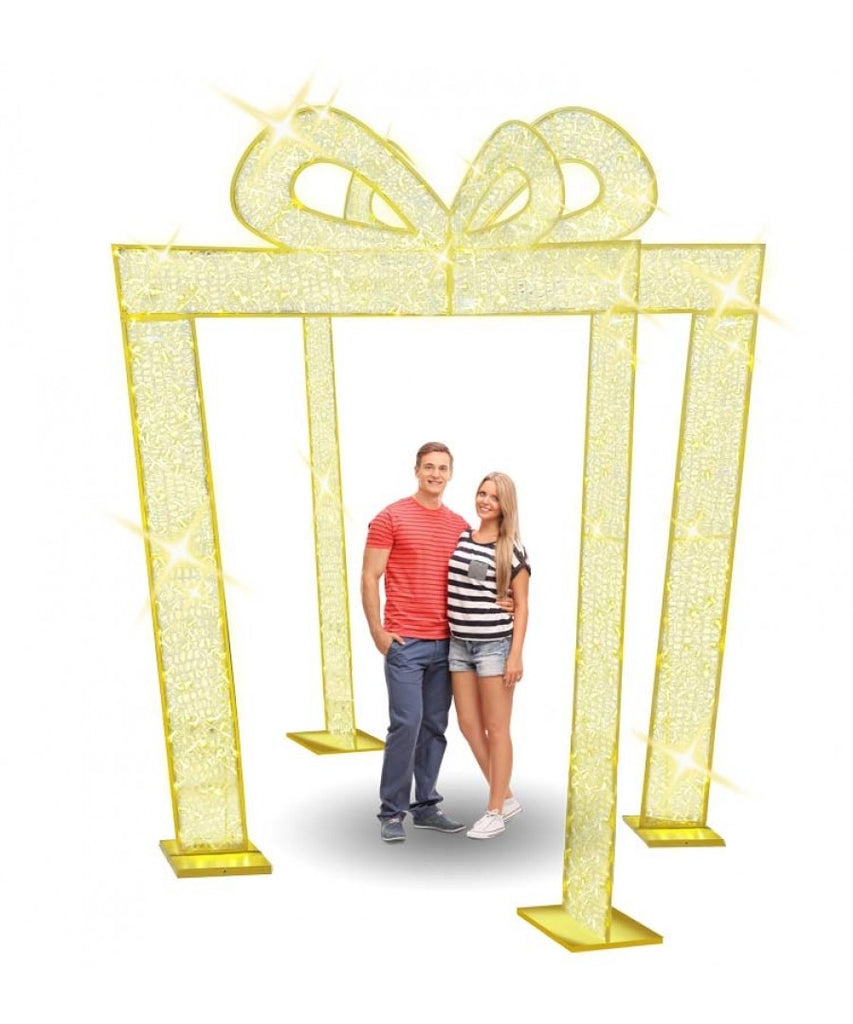 Giant Illuminated Gift Arches Commercial Photo Set