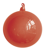 Coral Blown Glass Christmas Ball Ornament