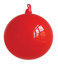 Red Blown Glass Christmas Ball Ornament