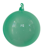 Teal Blown Glass Christmas Ball Ornament