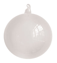 White Blown Glass Christmas Ball Ornament