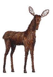 Fawn Grapevine Deer Decor