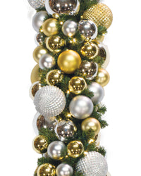 Decorated Gold and Silver Elite Garland