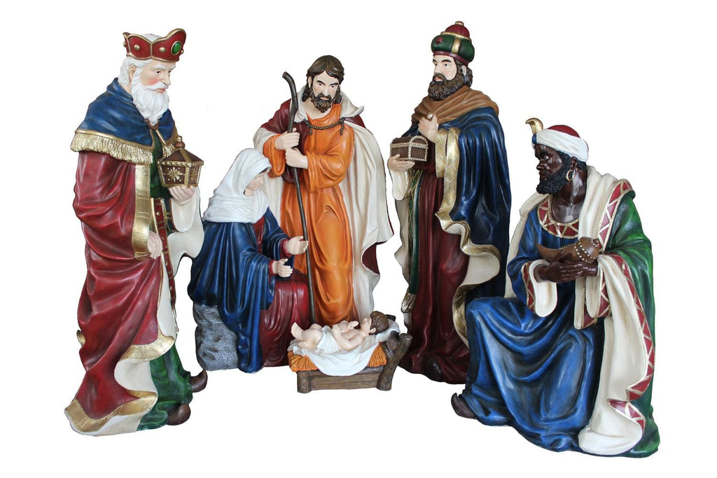 Hand Crafted Nativity Scene - 4 pcs