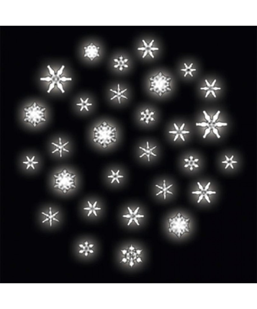 Glass Gobo with Delicate Snowfall Scene
