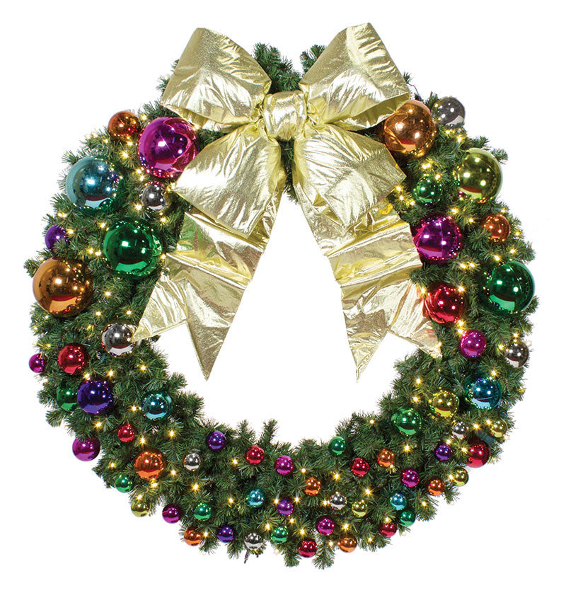 Jewel Tone Commercial Wreath Commercial Christmas Supply