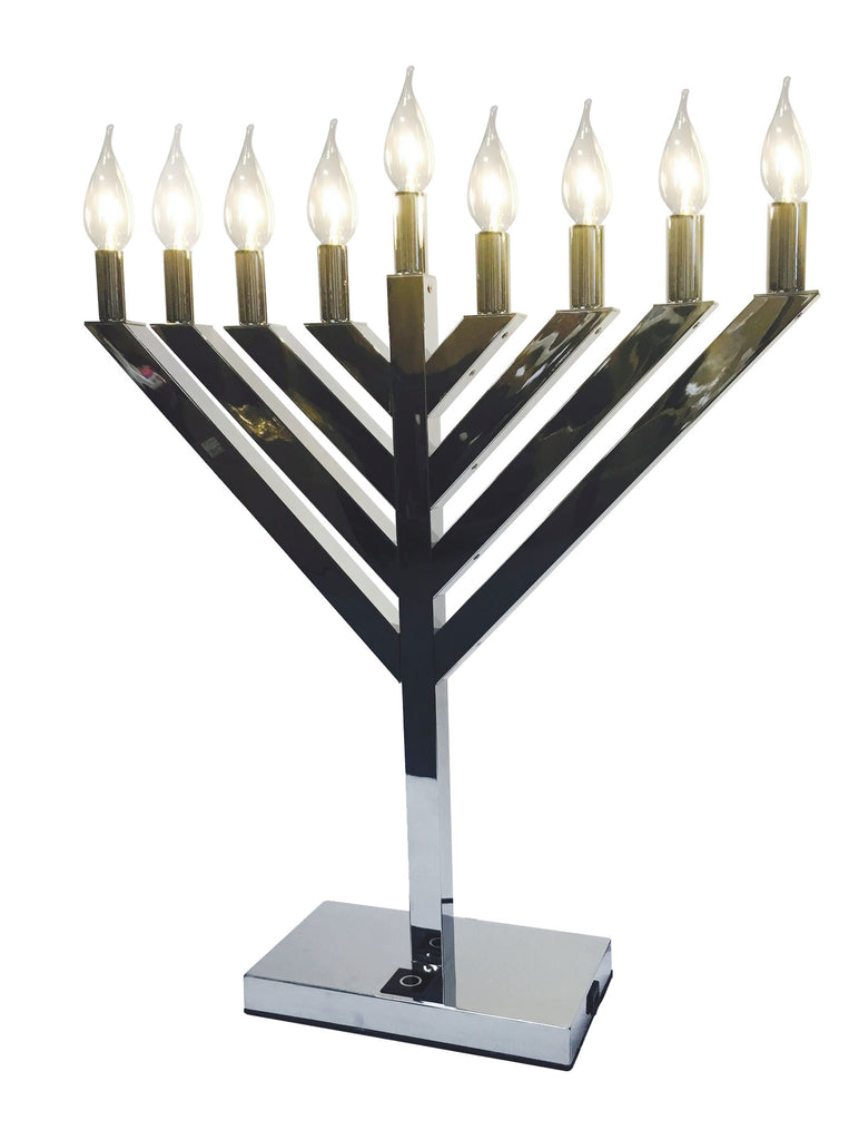 LED Chrome Menorah