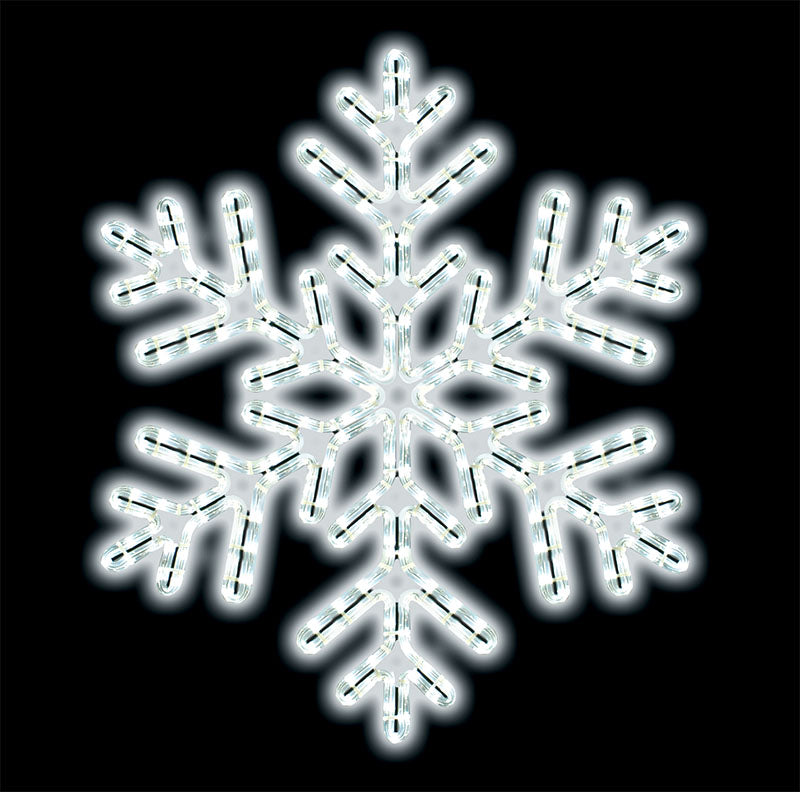 "24"" Cool White Outdoor Rope Light Snowflake"
