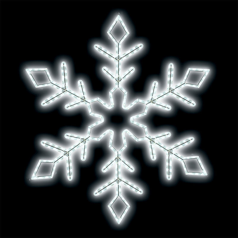 "LED Ropelight Snowflake 24"" Branch"