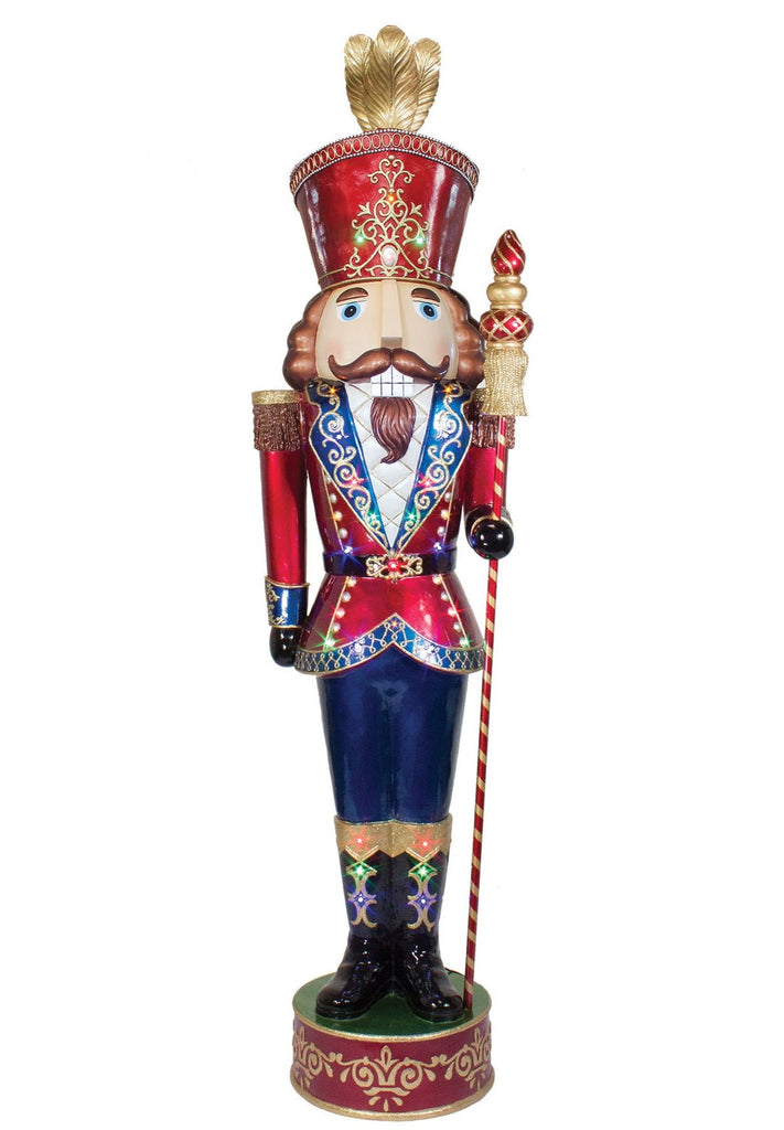 Lit Jeweled Nutcracker Prop