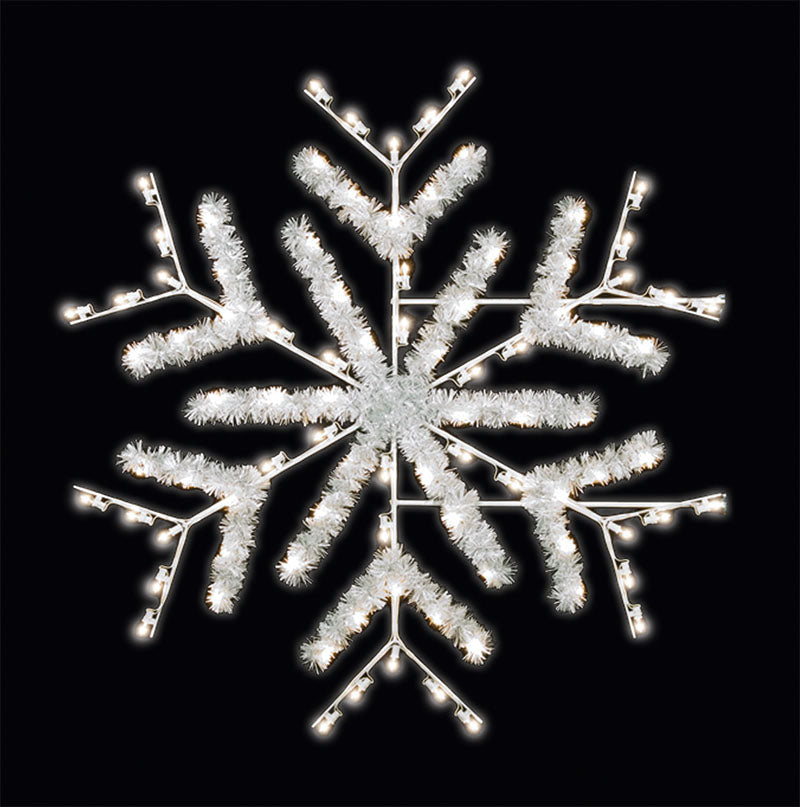 LED C7 Snowflake Pole Mount Decoration