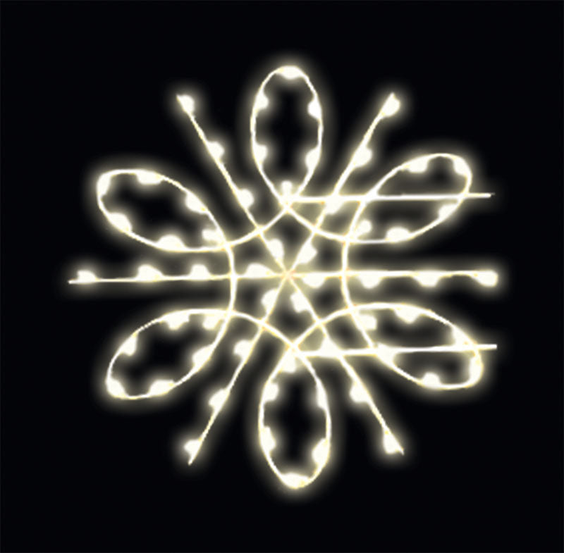 LED Bulb Snowflake Pole Mount Decoration
